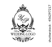 wedding logo | Shutterstock .eps vector #456297217