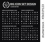 big icon set media icon... | Shutterstock .eps vector #456319123