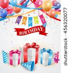 birthday and celebration... | Shutterstock .eps vector #456320077