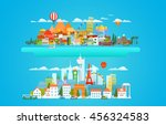 different cityscapese vector... | Shutterstock .eps vector #456324583