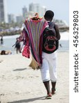 Clothes Vendor At The Beach In...