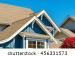 roof and windows of a house. | Shutterstock . vector #456331573
