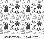 halloween seamless background | Shutterstock .eps vector #456337993