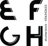 modern font | Shutterstock .eps vector #456343633