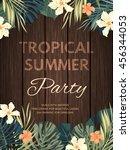 bright hawaiian design with... | Shutterstock .eps vector #456344053