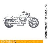 cruiser motorcycle. editable...   Shutterstock .eps vector #456355873