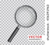 magnifying glass transparency | Shutterstock .eps vector #456391963