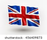 illustration of waving flag of... | Shutterstock .eps vector #456409873