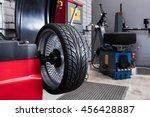 car wheel balancing in tire... | Shutterstock . vector #456428887
