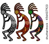 Kokopelli   Set Of 3 Colors