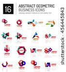 abstract geometric business... | Shutterstock . vector #456445843