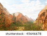 red arch mountain and zion... | Shutterstock . vector #45646678