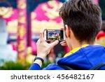 hong kong   15 march  2016 ... | Shutterstock . vector #456482167