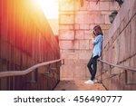 lifestyle portrait of pretty... | Shutterstock . vector #456490777