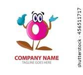 dough nut character logo | Shutterstock .eps vector #456511717