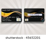 vector credit card | Shutterstock .eps vector #45652201