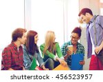 education concept   students... | Shutterstock . vector #456523957