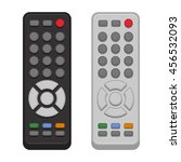 tv remote control set on white... | Shutterstock .eps vector #456532093