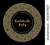 glamour golden glitter frame... | Shutterstock .eps vector #456547807