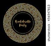 glamour golden glitter frame... | Shutterstock . vector #456547813