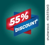 55  discount arrow tag sign... | Shutterstock .eps vector #456555643