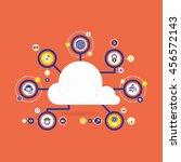cloud computing concept | Shutterstock .eps vector #456572143
