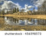 "Small photo of Ruins ""poultry house"" in the Park Menagerie. Gatchina. Russia."