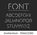 thin font. futuristic font.... | Shutterstock .eps vector #456612283