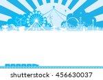 vector of amusement park... | Shutterstock .eps vector #456630037