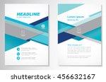 vector brochure flyer design... | Shutterstock .eps vector #456632167