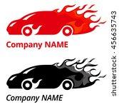 illustration of red sport car... | Shutterstock . vector #456635743