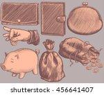 wallets. design set. hand drawn ...   Shutterstock .eps vector #456641407