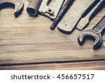tools laid out on the table.   Shutterstock . vector #456657517