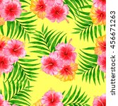 tropical pattern with... | Shutterstock . vector #456671263