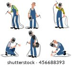vector illustration of a six... | Shutterstock .eps vector #456688393