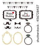 wedding design elements for... | Shutterstock .eps vector #456728437