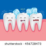 sensitive teeth. tooth is so... | Shutterstock .eps vector #456728473