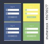 flat illustration of login form ...