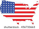 america flag in u.s.a map. the... | Shutterstock . vector #456733663