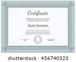 vintage certificate with luxury ... | Shutterstock .eps vector #456740323