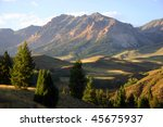 mountains outside of sun valley ... | Shutterstock . vector #45675937