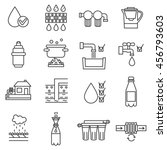 Water Purification Icon Set....