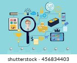vector search business... | Shutterstock .eps vector #456834403