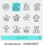 vector set of various types of... | Shutterstock .eps vector #456853837