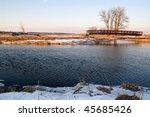 Winter Landscape Of A Bridge...