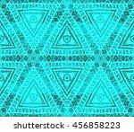 ethnic seamless pattern. ethnic ... | Shutterstock . vector #456858223