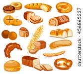 vector illustration of bakery... | Shutterstock .eps vector #456865237