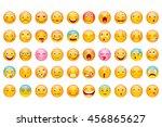 vector illustration of glossy... | Shutterstock .eps vector #456865627