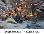 Goreme Town On Sunset In...