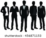 business people silhouettes | Shutterstock .eps vector #456871153